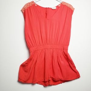 Urban Outfitters PINS & NEEDLES coral romper